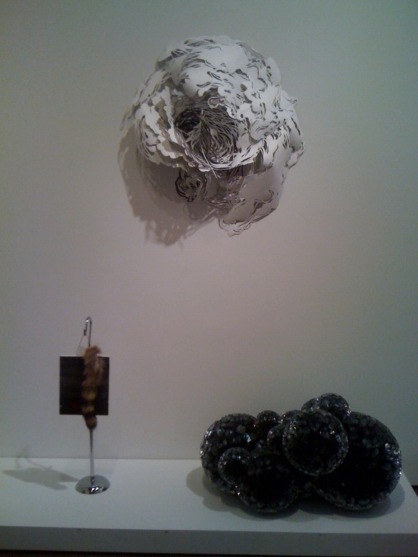 Josephine Meckseper, Drawn and Quartered, 2010, Mia Pearlman, Hemitrope, 2008, Tara Donovan, Untitled, 2009