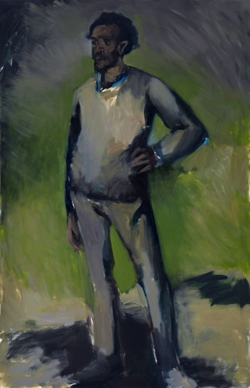 2 Lynette Yiadom-Boakye, 9am Jerez de la Frontera, 2010, Oil on canvas, 78 3:4 x 51 1:4 in, Collection of Noel Kirnon