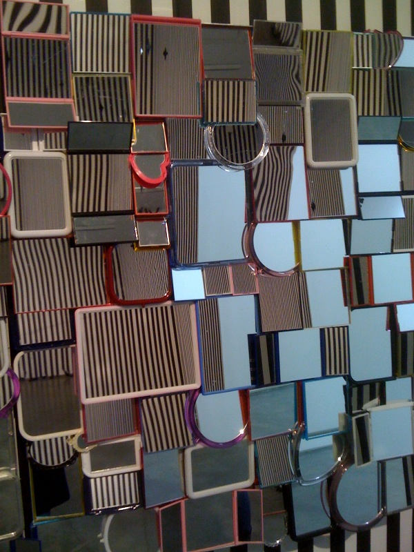 Untitled (mirror assemblage), 2010, close up
