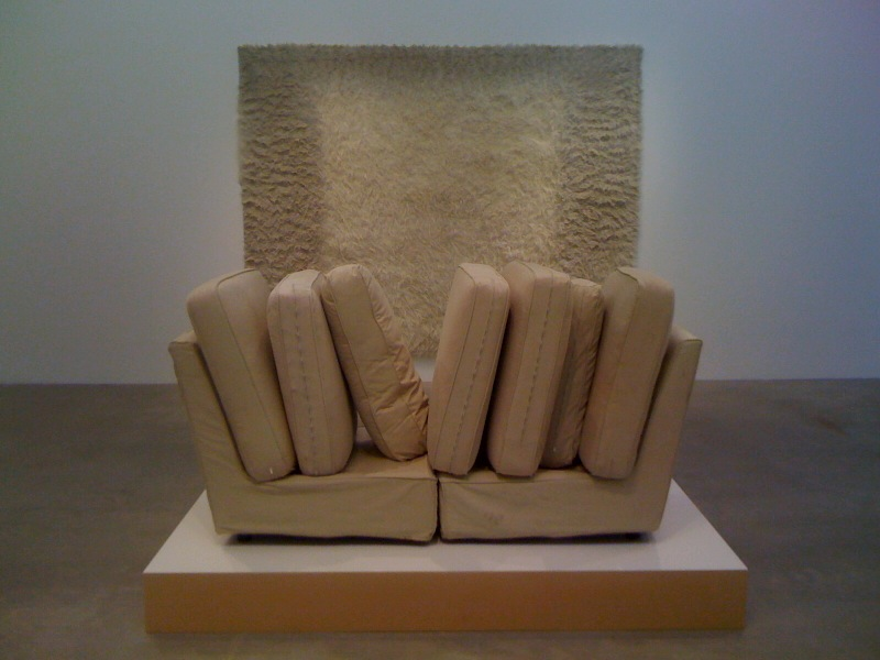 Obviously (shag rug), 2010, Metamorphosis (couch), 2010