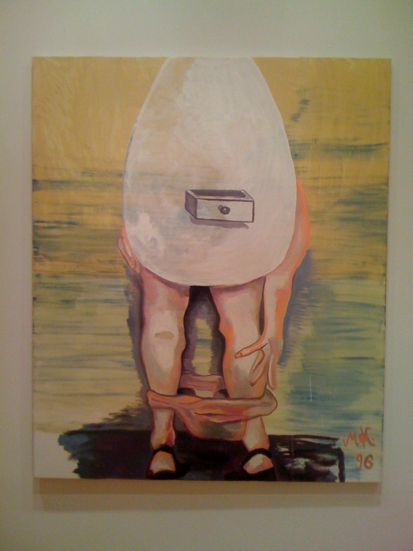Eifrau die man nicht schubladieren kann (Egg woman who defies categorization), 1996