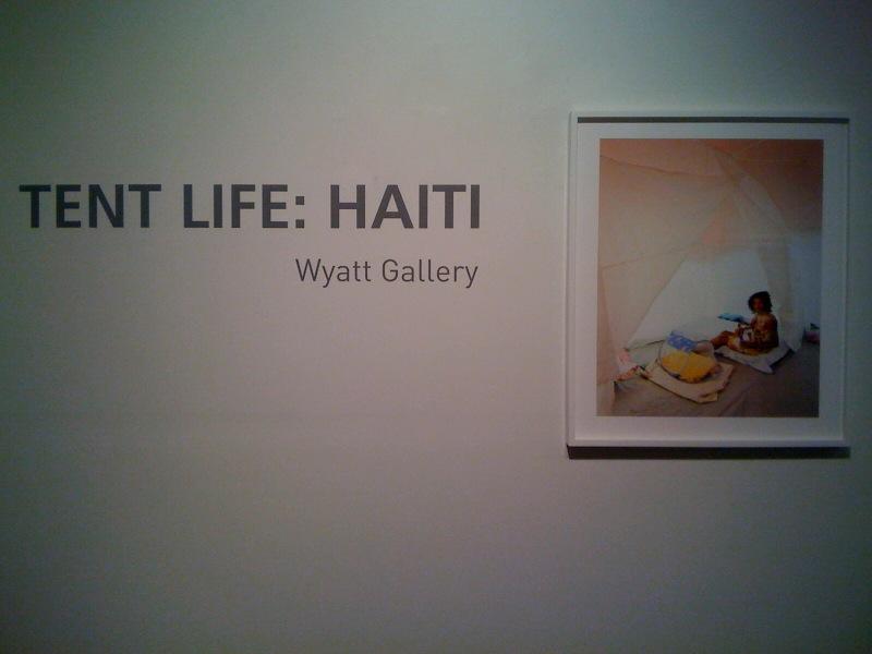 Vanessa with Newborn Baby, Airport Camp, Tent Life_Haiti, Wyatt Gallery