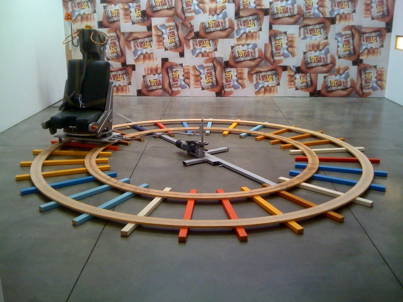 Carousel with ejection seat, 1991, Untitled (Wallpaper), 1991