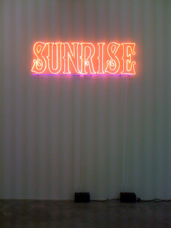Sunrise, (lit), 2011