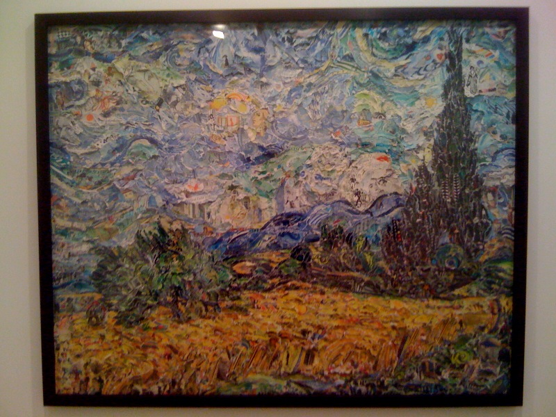 Wheat Field with Cypresses, after van Gogh (Pictures of Magazines 2), 2011