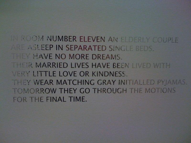 Room 11d text, 1998