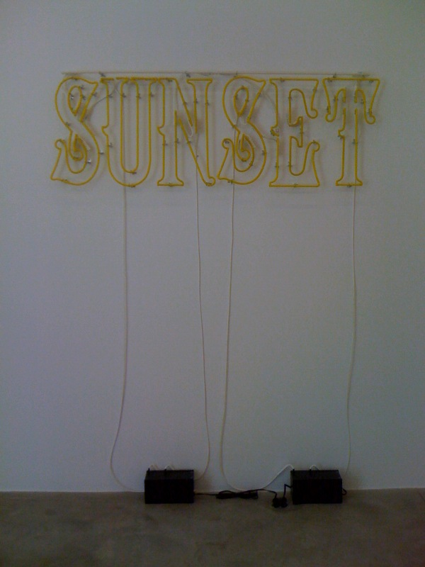 Sunset, (off), 2011