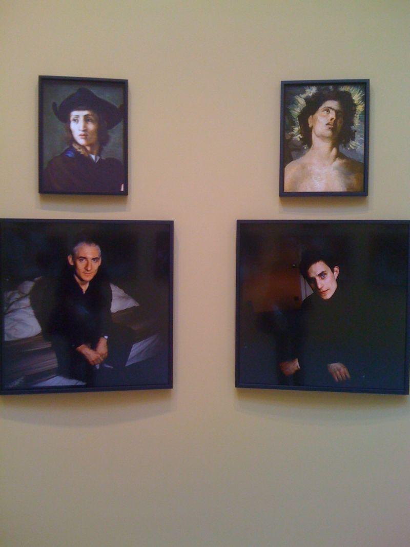 Portait d'un graveur en pierres fines, Pontormo, 2011, Pawel, NYC, 1996, St. Sebastian, Puvis de Chavannes, 2011, Clemens, Paris, 2005