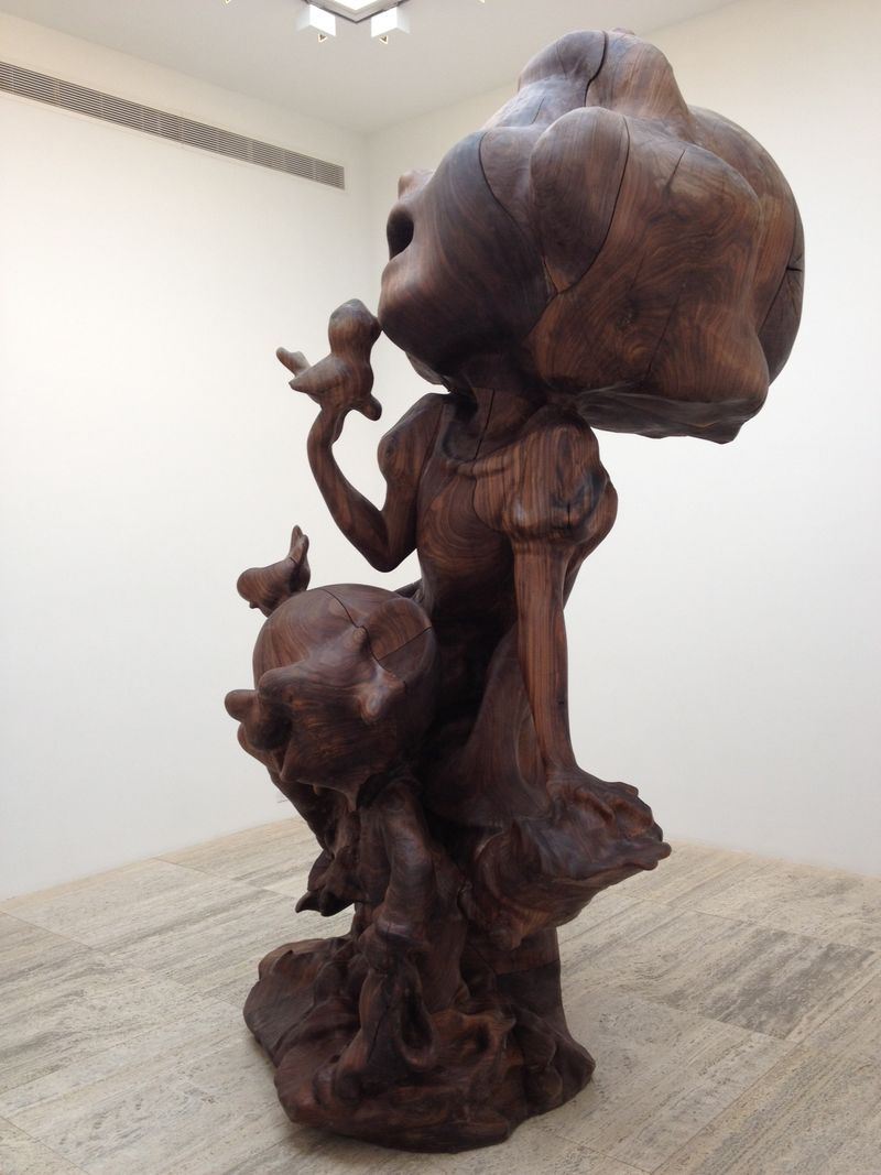 White Snow and Dopey, Wood, 2011, side view