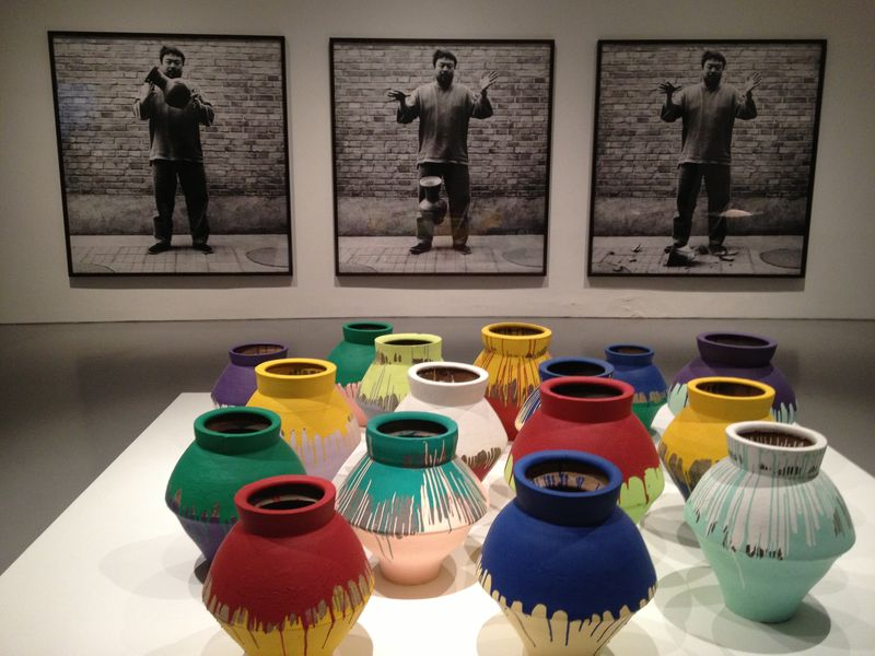 Dropping a Han Dynasty Urn, 1995-2009, Coloured Vases, 2007-10, 6