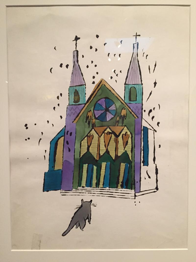 6 Cat in Front of Church, ca. 1959