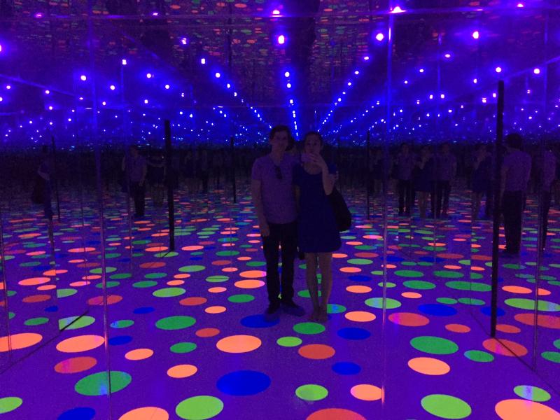 Infinity Dots Mirrored Room, Yayoi Kusama, 1996