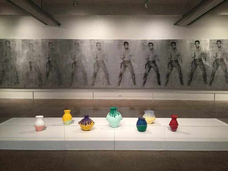 15 Colored Vases, 2011, Elvis 11 Times (Studio Type), 1961