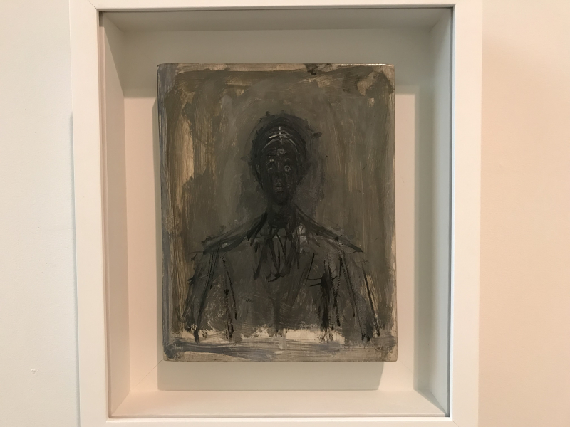 6_Bust of Isaku Yanaihara  Oil on panel  1959