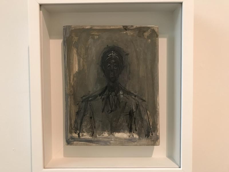 6_Bust of Isaku Yanaihara  Oil on panel  1959