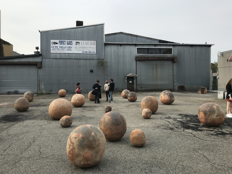 Bosco Sodi's public art installation Perfect Bodies  Red Hook  Brooklyn 1