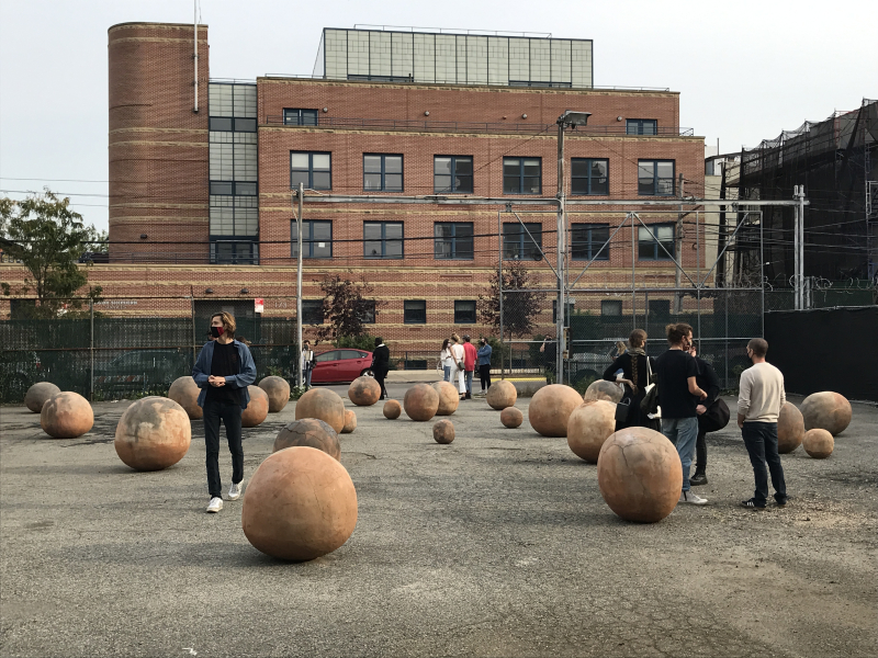Bosco Sodi's public art installation Perfect Bodies  Red Hook  Brooklyn 2