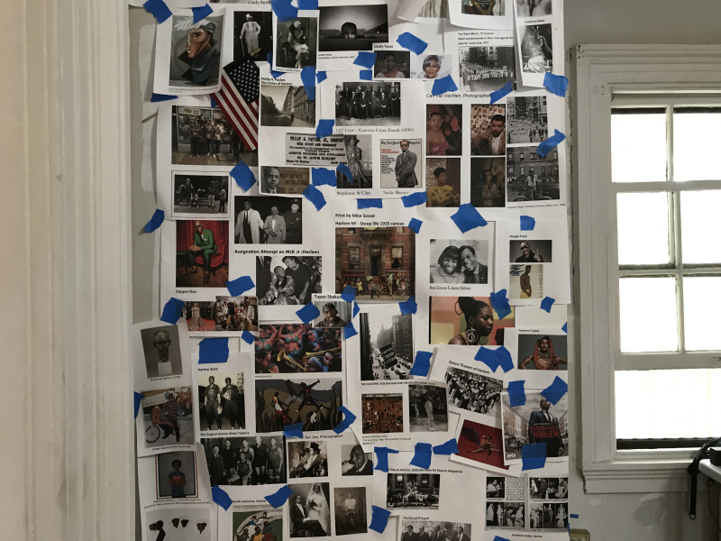 Demarcus McGaughey's Inspiration Board_Art Crawl Harlem Residency