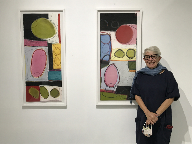 Jo-Ann Acey poses with Full Circle No. 7 and No. 6