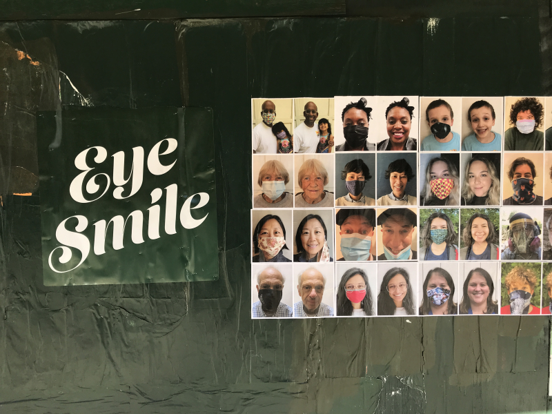 Miguel Ayuso's installation Eye Smile You Smile  on view at Atlantic & Hoyt_1