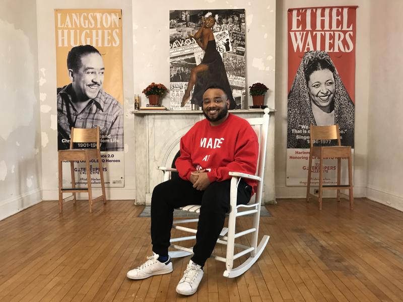 Art Crawl Harlem's artist-in-residence Demarcus McGaughey