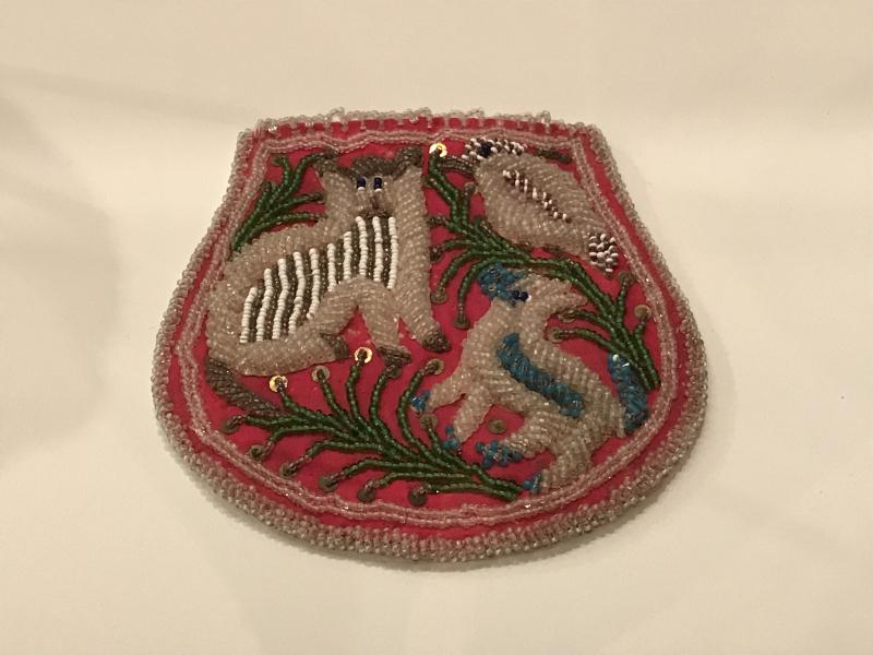 Haudenosaunee (Iroquois) artist  Beaded Bag  early 20th century