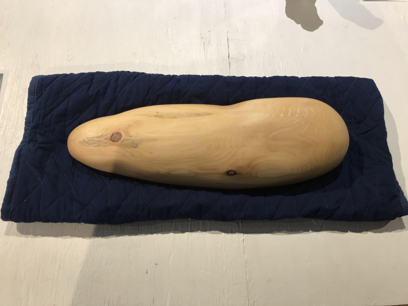Steve Ettlinger  Sleeping Shmoo  cedar with Danish oil