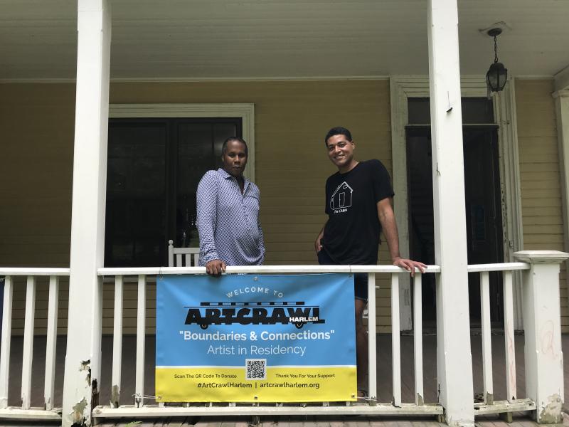 ArtCrawl Harlem Executive Director Ulysses Williams and artist Mario Joyce 2