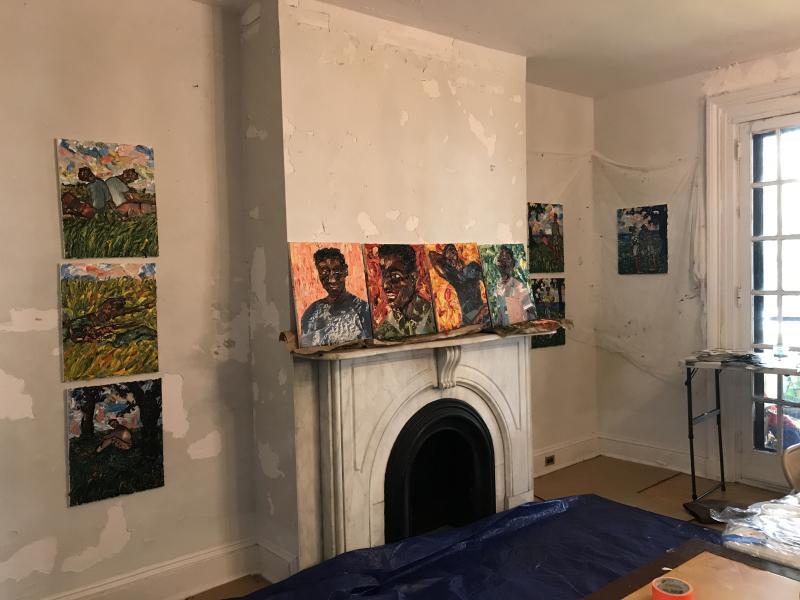 Mario Joyce_ArtCrawl Harlem's Governors Island residency 8