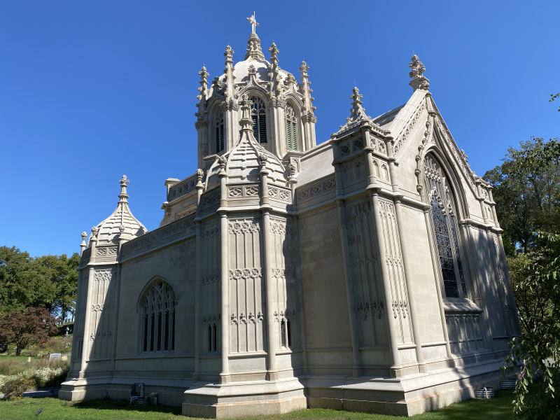 Historic Chapel at Green-Wood Cemetery_exterior_rear_by Nathan Haselby