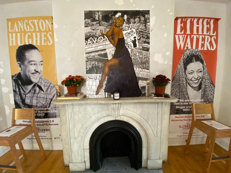 Demarcus McGaughey's portrait of Amber (WIP)_Art Crawl Harlem Residency
