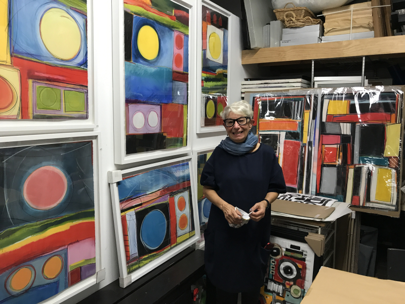 Jo-Ann Acey in her studio at Brooklyn Art Cluster Studios