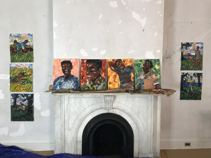 Mario Joyce's work at ArtCrawl Harlem's Governors Island residency 1