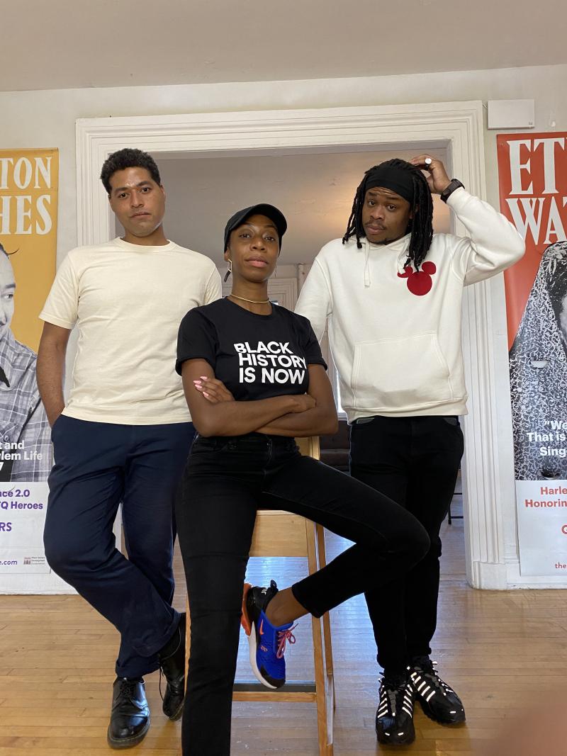 ArtCrawl Harlem 2021 Artists in Residence; Mario Joyce  Melissa Sutherland Moss and  Michael Obele_ArtCrawlHarlem