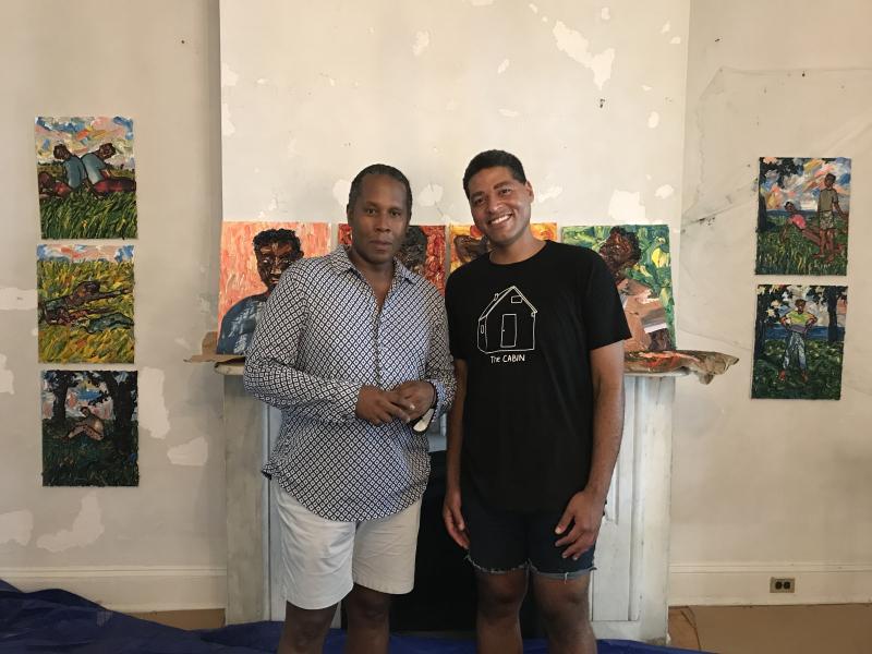 ArtCrawl Harlem Executive Director Ulysses Williams and artist Mario Joyce 1